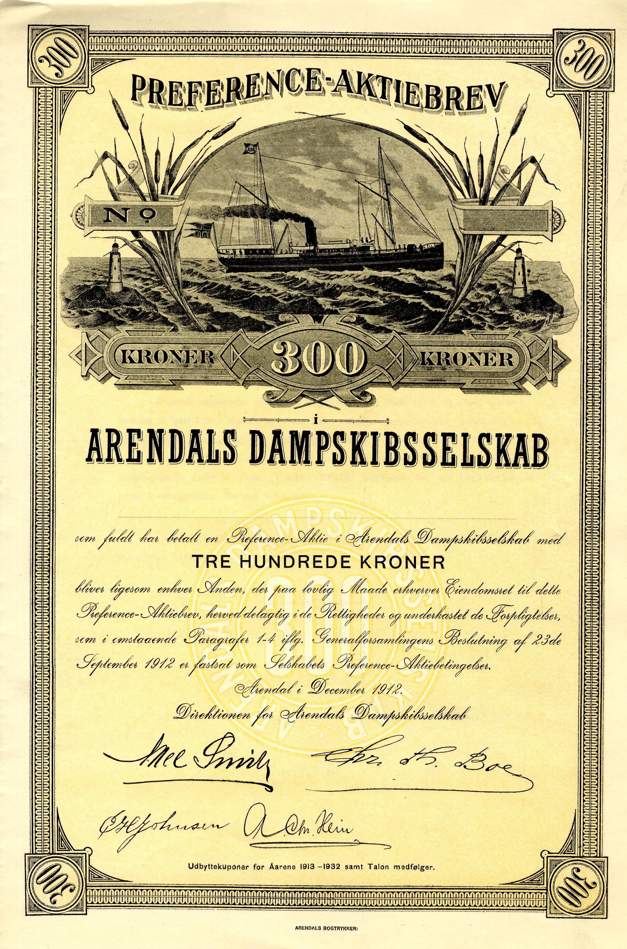 Arendals DS_1912_300_Pref_blankett