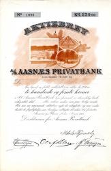 Aasnæs Privatbank_1912_250_blankett