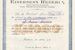245_Einersens-Rederi_1916_1000_nr189