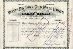 315_Plants-Day-Dawn-Gold-Mines-Limited_1903_10-sh._nr1114