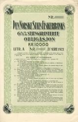 123_Den-Norske-Stats-Fiskeribanks-6½pct-Statsgaranterte-Obligasjon_1921_10000_Blankett-